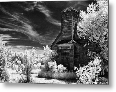 The Old Wood Church  Metal Print by Jeff Holbrook