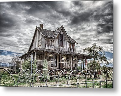 The Old Wood House Rogue Valley Oregon Metal Print