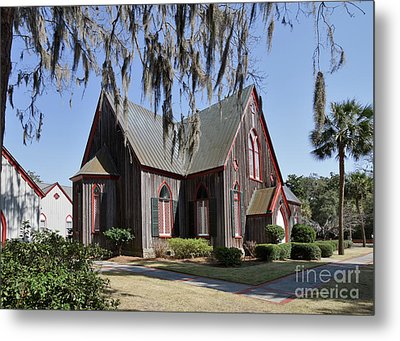 The Old Wooden Church Metal Print by Louise Heusinkveld