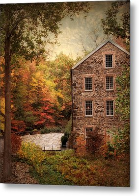 The Olde Country Mill Metal Print by Jessica Jenney