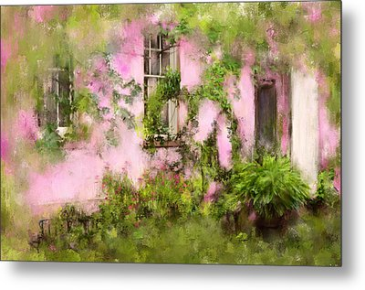 The Olde Pink House In Savannah Georgia Metal Print