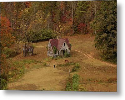 Metal Print featuring the digital art The Oldest House In North Carolina by Sharon Batdorf