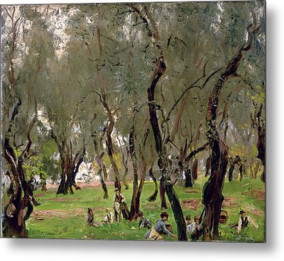 The Olive Grove Metal Print by John Singer Sargeant