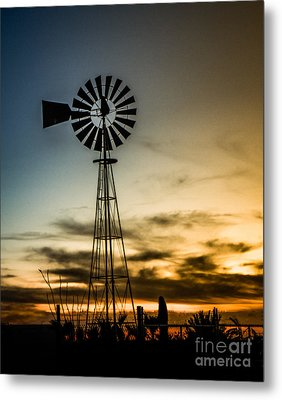 The Old Windmill Metal Print by Robert Bales