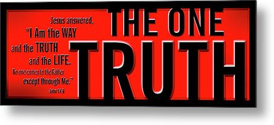 Metal Print featuring the digital art The One Truth by Shevon Johnson