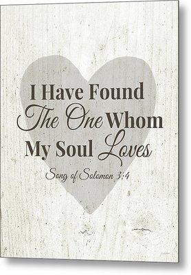 The One Whom My Sould Loves- Art By Linda Woods Metal Print