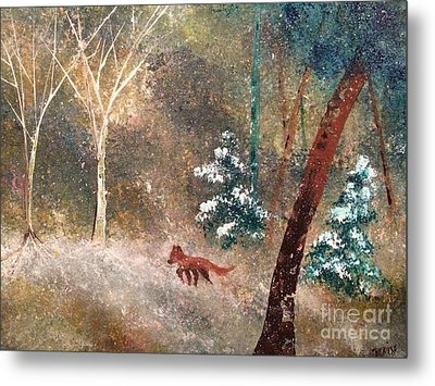 Metal Print featuring the painting The Onion Snow by Denise Tomasura