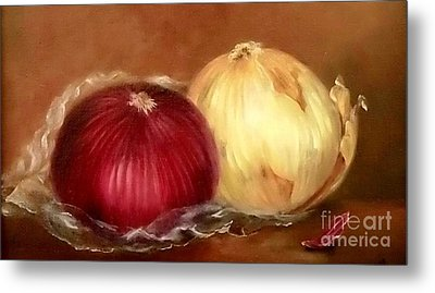 The Onions Metal Print