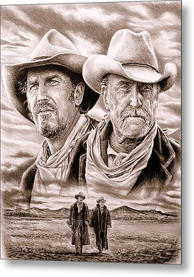 The Open Range Sepia  Metal Print by Andrew Read