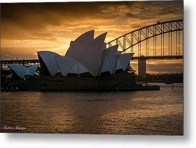 Metal Print featuring the photograph The Opera House by Andrew Matwijec