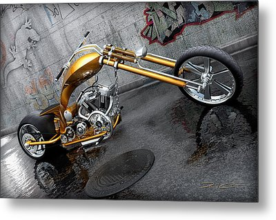 The Orange City Chopper Metal Print by David Collins