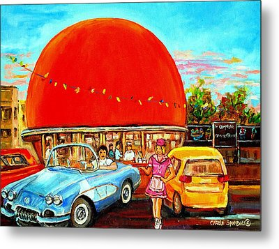 The Orange Julep Montreal Metal Print by Carole Spandau