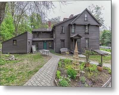 The Orchard House And The Little Woman Garden Metal Print
