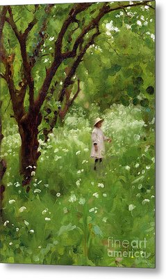 The Orchard  Metal Print by Thomas Cooper Gotch