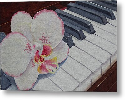 The Orchids Song Metal Print by Judy Mercer