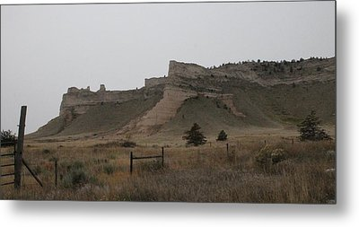 Metal Print featuring the photograph The Oregon Trail Scotts Bluff Nebraska by Christopher Kirby