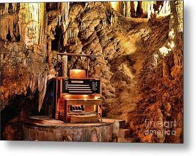 Metal Print featuring the photograph The Organ In Luray Caverns by Paul Ward