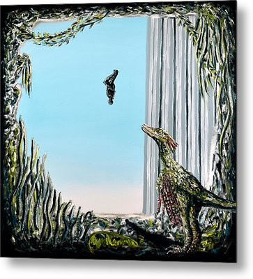 Metal Print featuring the painting The Origin Of Species -a Recurring Pattern- by Ryan Demaree