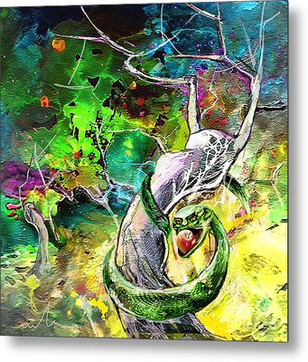 The Original Sin Metal Print by Miki De Goodaboom