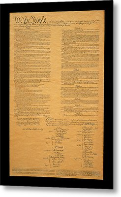 The Original United States Constitution Metal Print by Panoramic Images