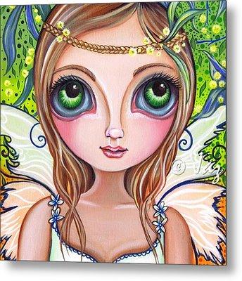 The Original wattle Fairy Painting Metal Print