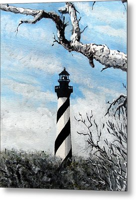 Metal Print featuring the painting The Other View Of Hatteras by Jim Phillips