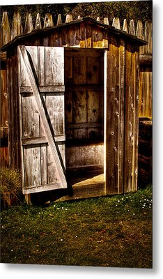 The Outhouse At Fort Nisqually Metal Print by David Patterson