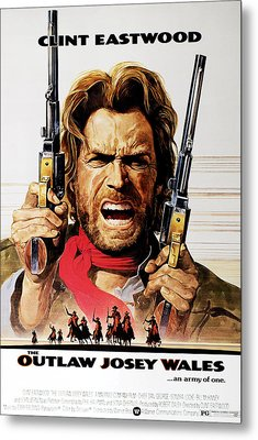 The Outlaw Josey Wales, Clint Eastwood Metal Print