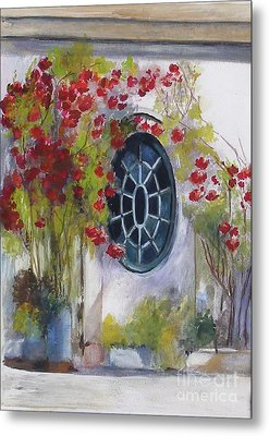 The Oval Window Metal Print by Sibby S