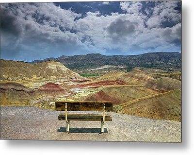 The Overlook At Painted Hills In Oregon Metal Print