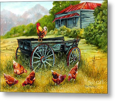 The Overseer Metal Print by Val Stokes