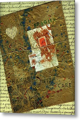 Metal Print featuring the mixed media The Package by P J Lewis