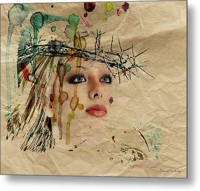 The Painted Reality Metal Print by Ramon Martinez