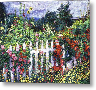 The Painter's Palette Garden Metal Print by David Lloyd Glover