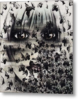 The Pajama Dream Metal Print by Rachel Christine Nowicki