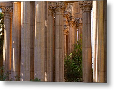 The Palace Columns Metal Print