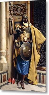 The Palace Guard Metal Print by Ludwig Deutsch