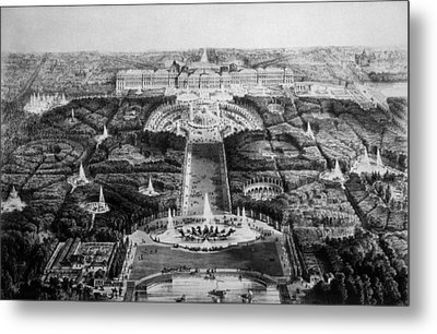 The Palace Of Versailles, 19th Century Metal Print by Everett