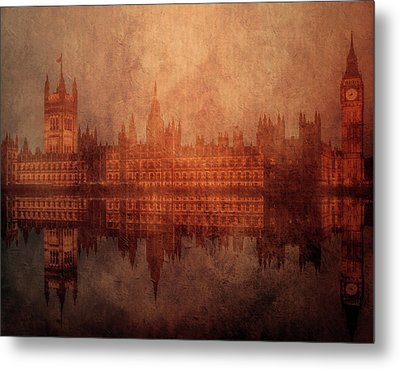 The Palace Of Westminster Metal Print