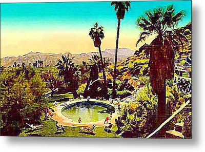 The Palm Springs Tennis Club Metal Print
