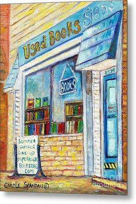 The Paperbacks Plus Book Store St Paul Minnesota Metal Print by Carole Spandau