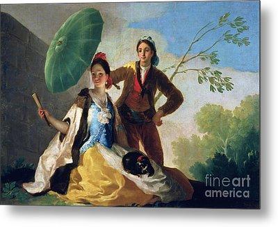 The Parasol Metal Print by Goya