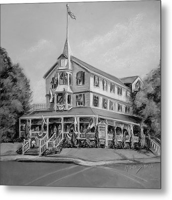 The Parker House Black And White Metal Print