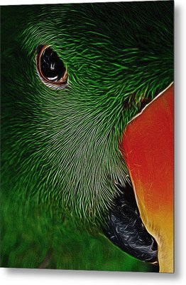The Parrot Digital Art Metal Print