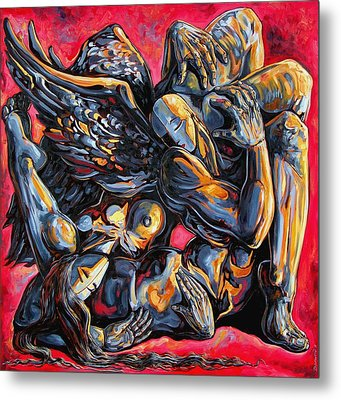 The Passion Of The Fallen Metal Print by Darwin Leon