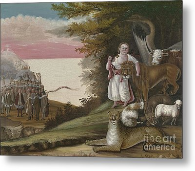 The Peaceable Kingdom, 1829-30 Metal Print