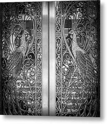 The Peacock Door Metal Print