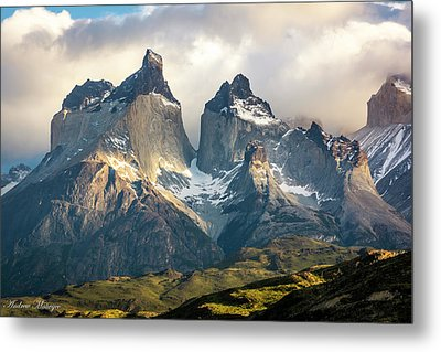 Metal Print featuring the photograph The Peaks At Sunrise by Andrew Matwijec