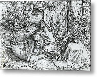 The Penitence Of Saint Jerome Metal Print by Lucas the elder Cranach