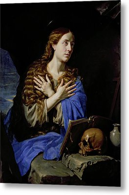 The Penitent Magdalene Metal Print